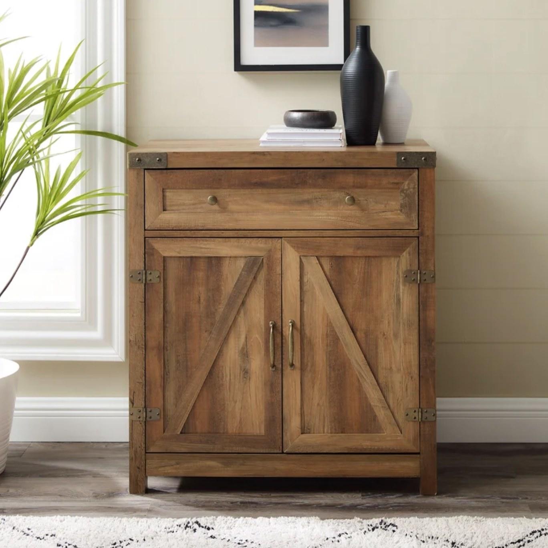 The two door accent cabinet in reclaimed barnwood