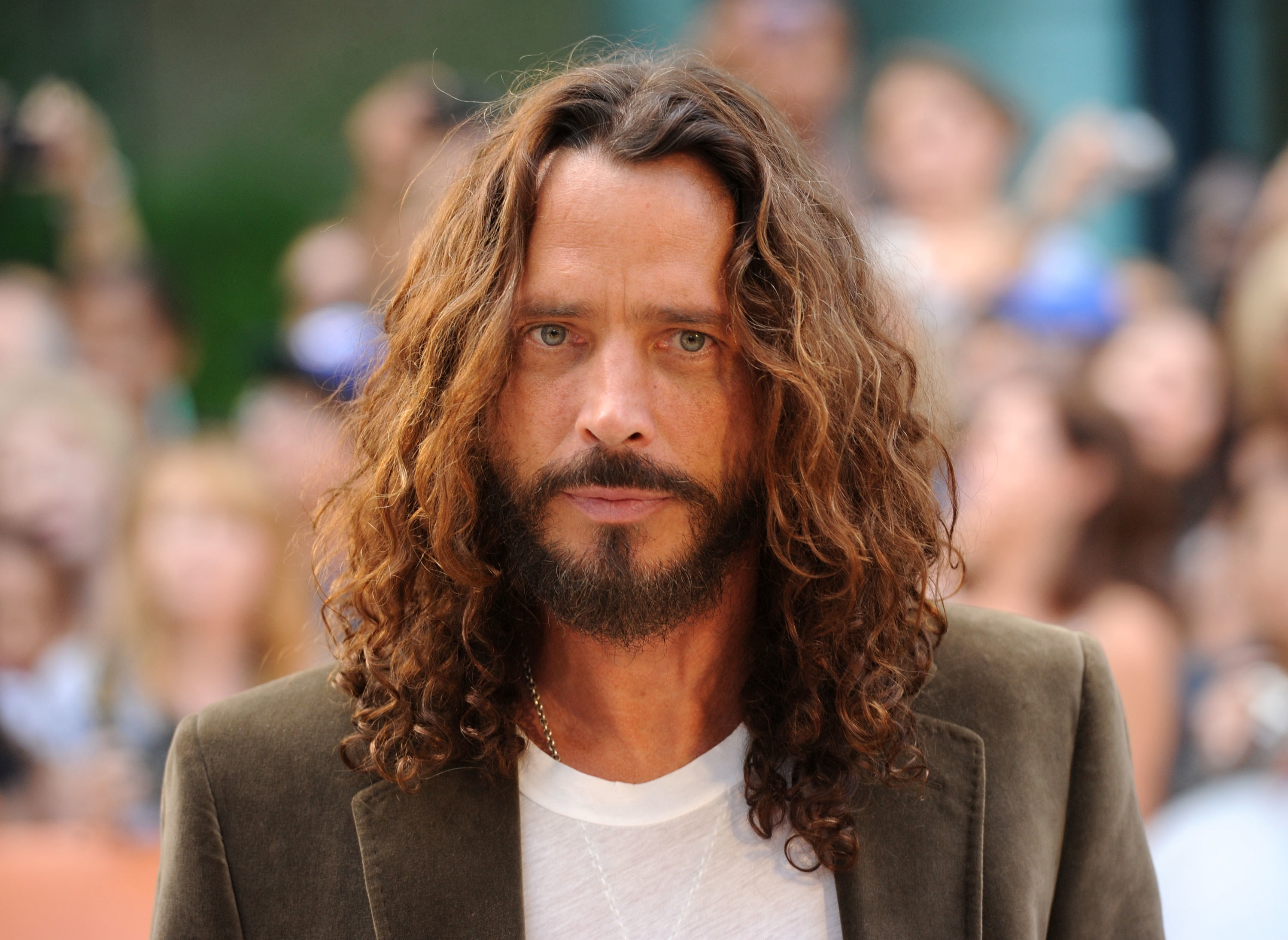 Photo of Chris Cornell with long hair