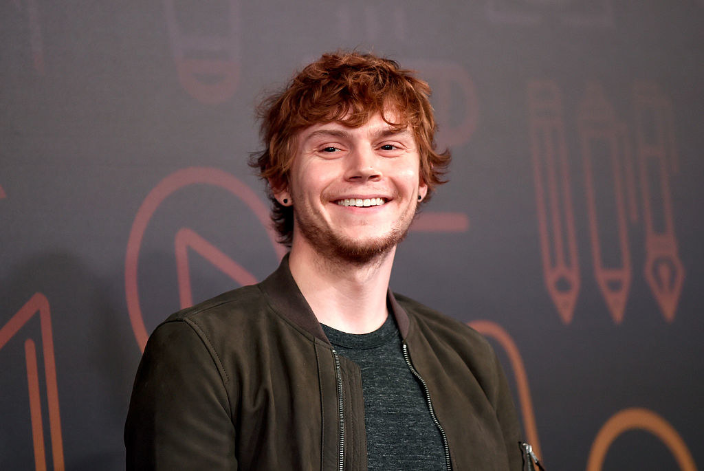 Evan Peters giving a silly smile