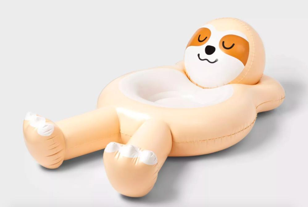 The Sun Squad sloth pool float