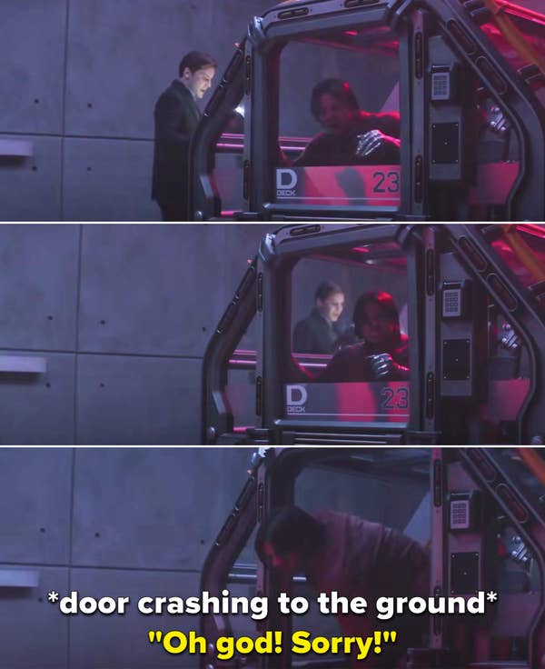 "Sebastian saying, ""Oh god! Sorry!"""
