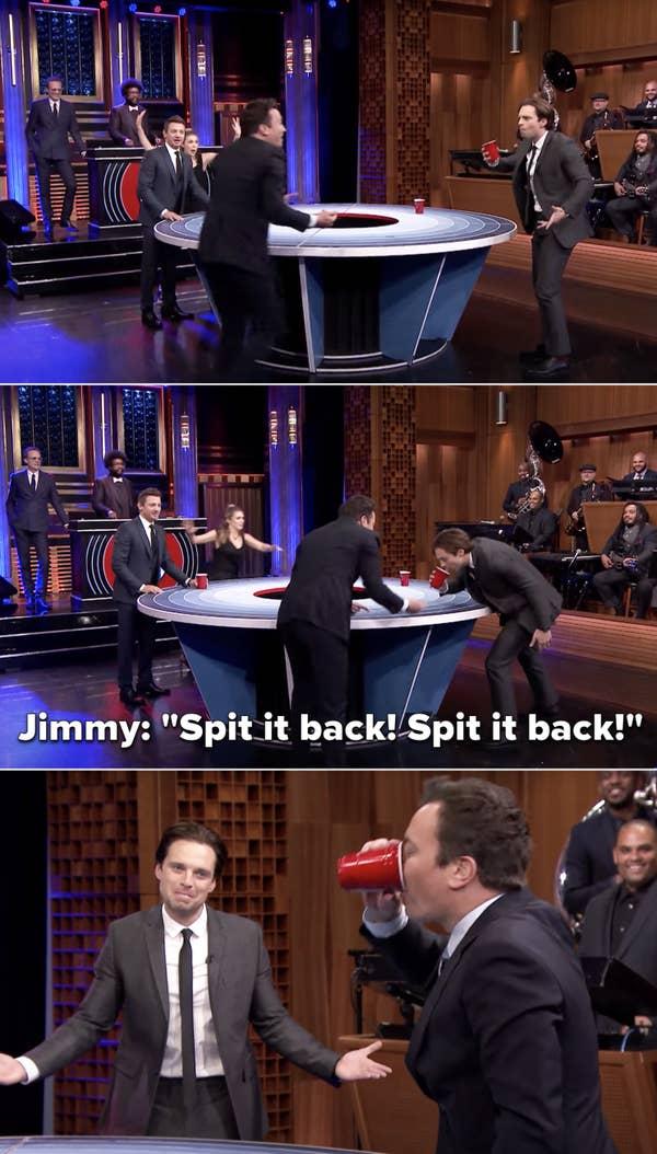 "Jimmy shouting at Sebastian, ""Spit it back! Spit it back!"""