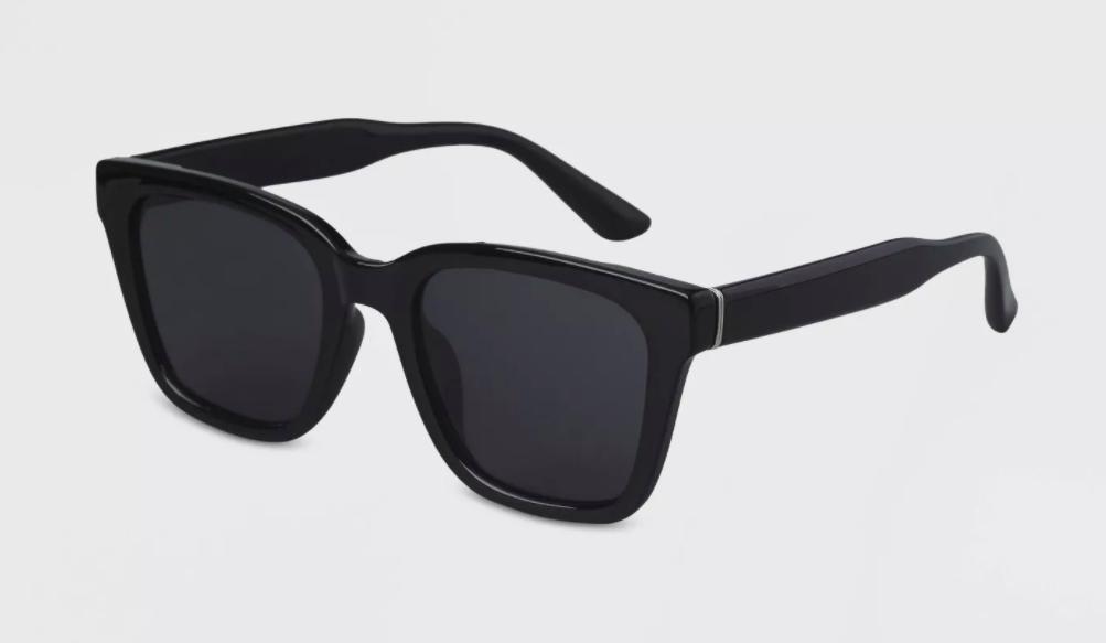 Adult Anti-Fog Square Sunglasses in black