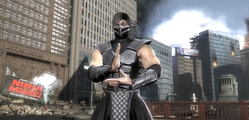 Smoke posing in silver armor