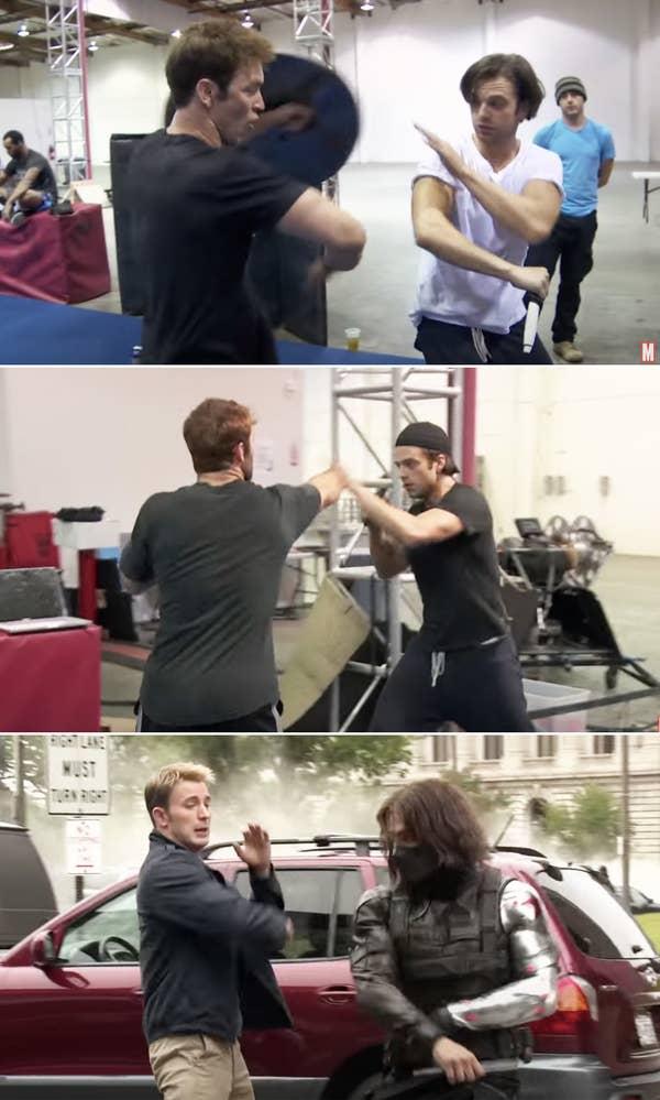 Sebastian training behind the scenes