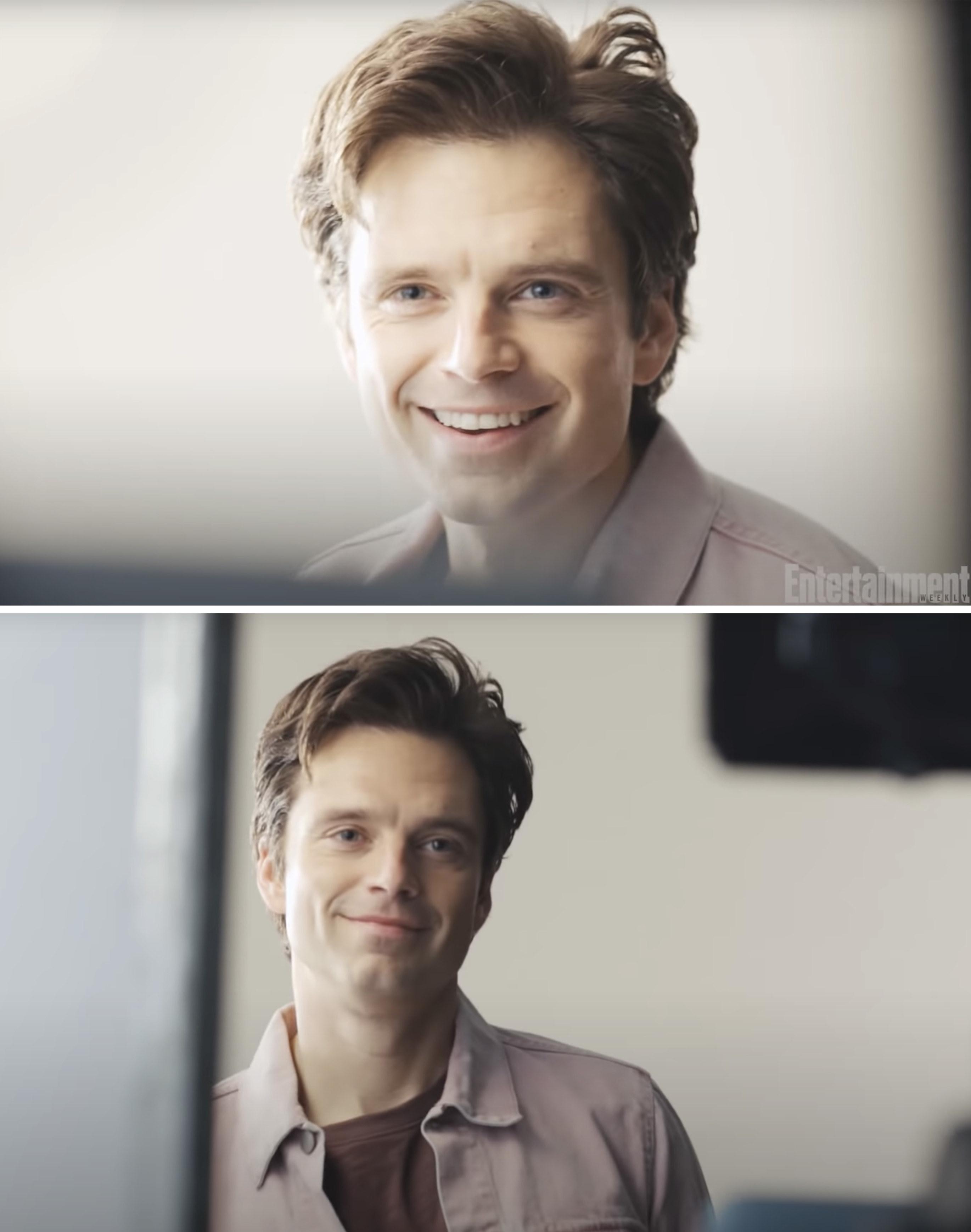 Sebastian smiling while taking photos