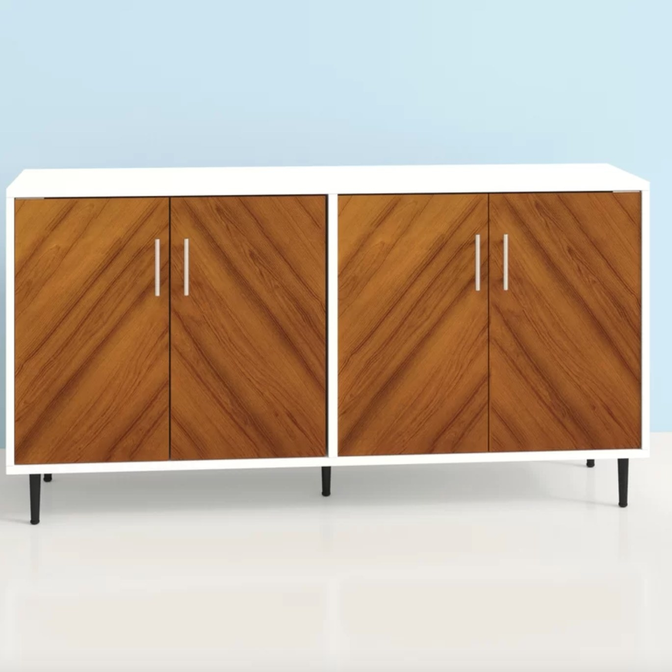 The wide sideboard in acorn/ white