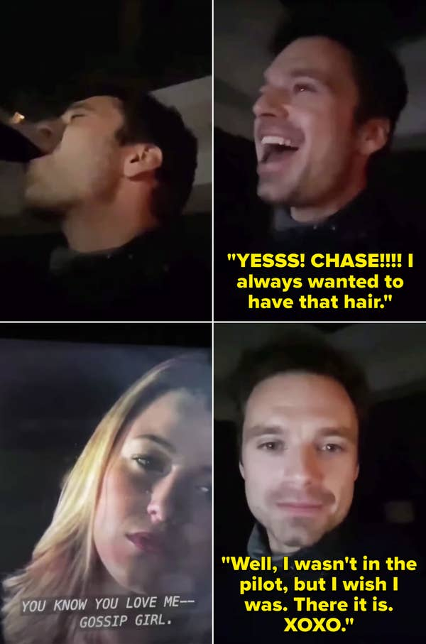 Sebastian screaming about Chase Crawford and saying he wishes he was in the pilot