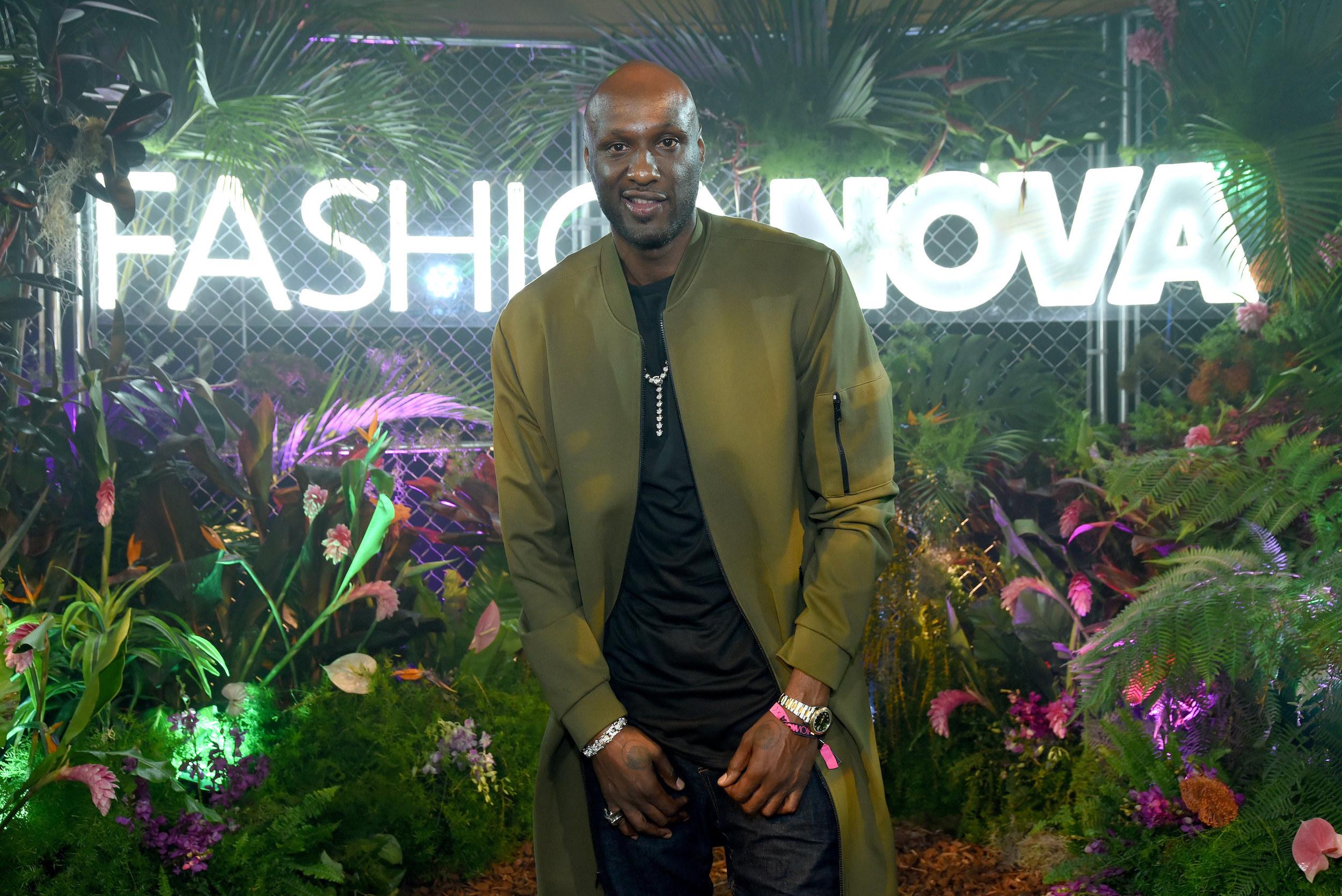 Odom at a Fashion Nova event in 2019