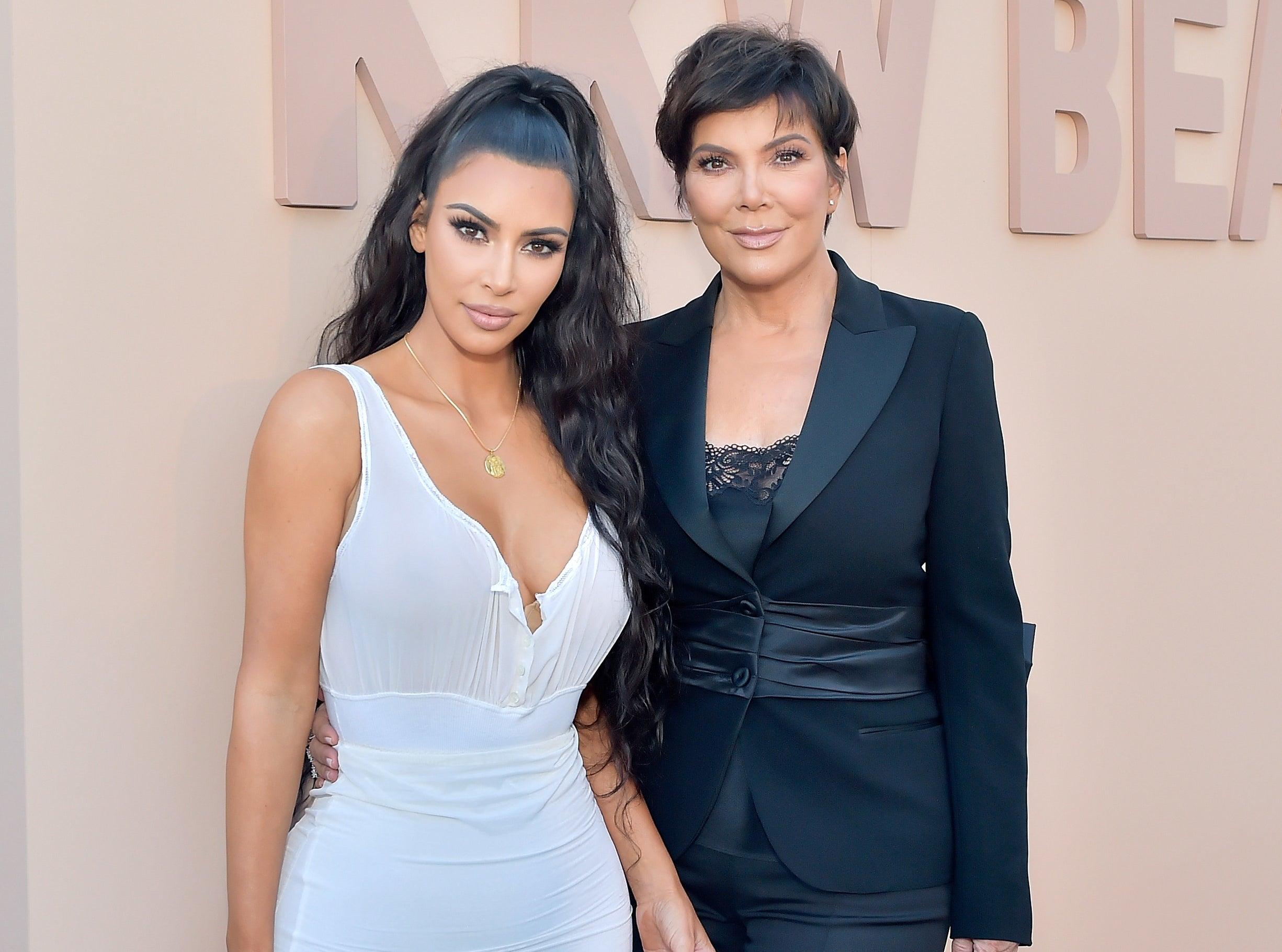 Kim and Kris pose together