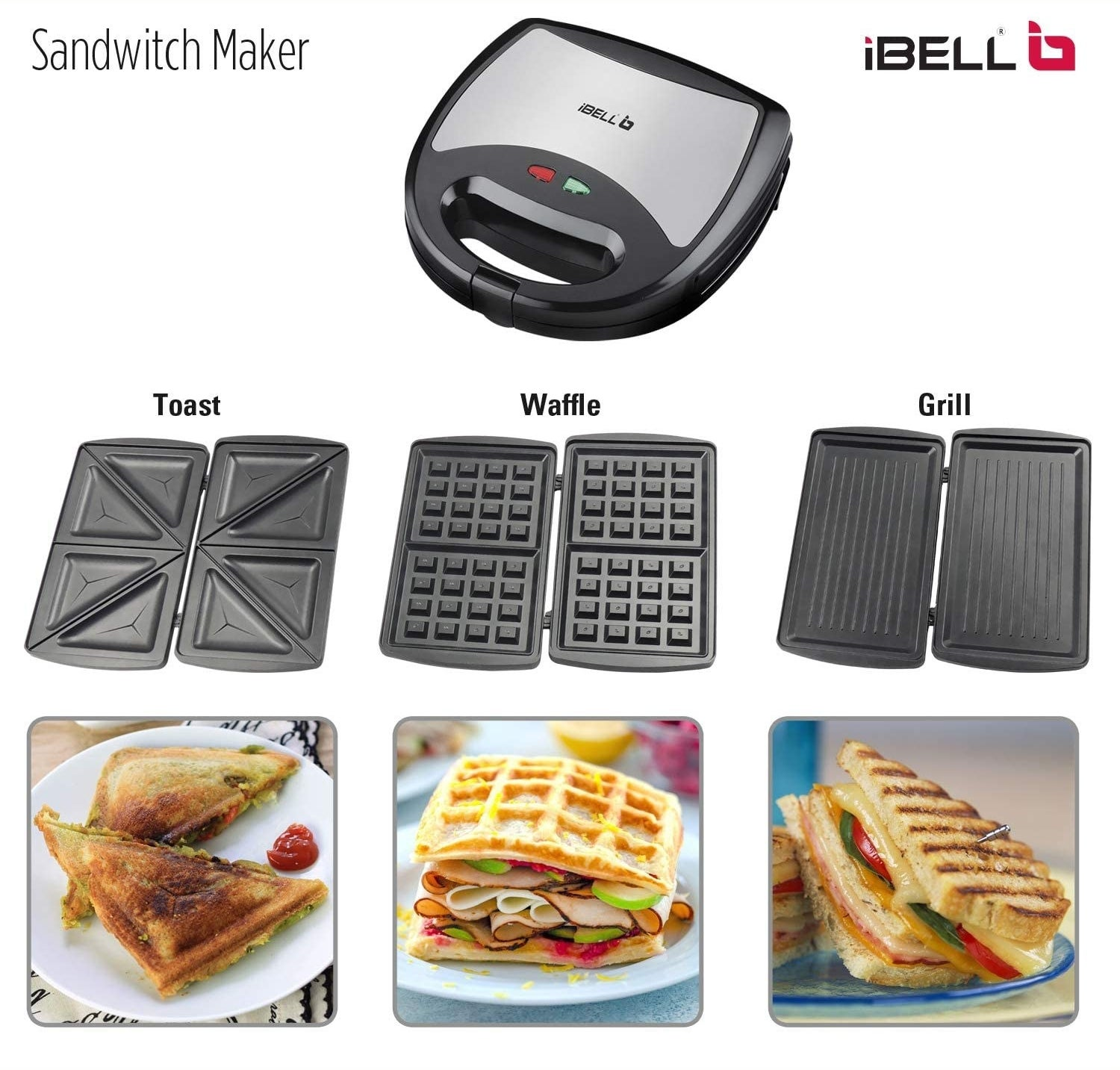 You can use the wafflemaker to make toaste, waffles, and grilled sandwiches