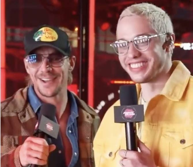 Pete and Diplo smile during the interview