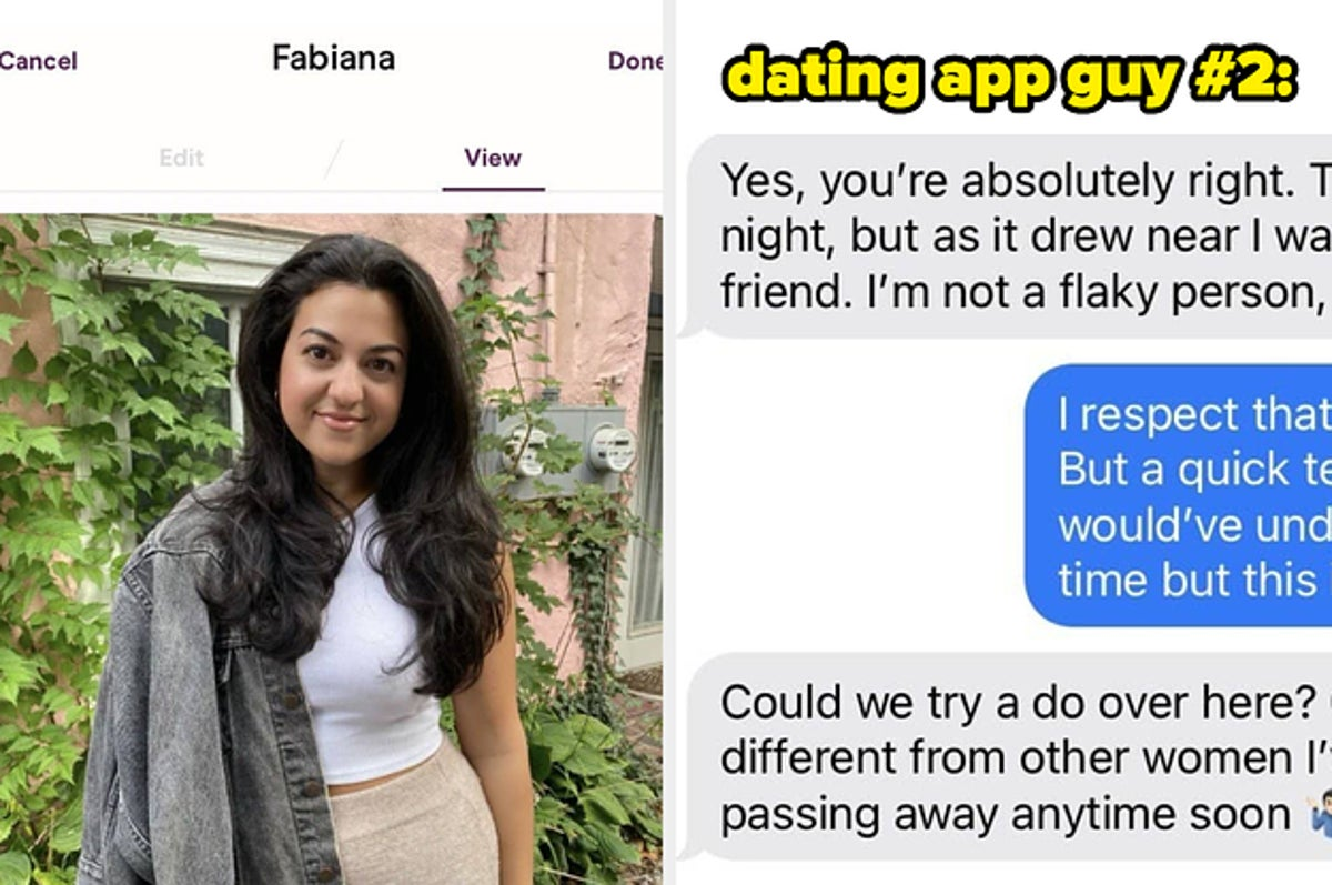 online dating guy flaky)