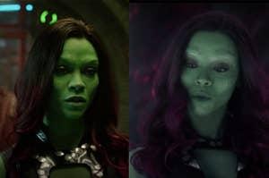 Gamora是最终的不同绿色阴影
