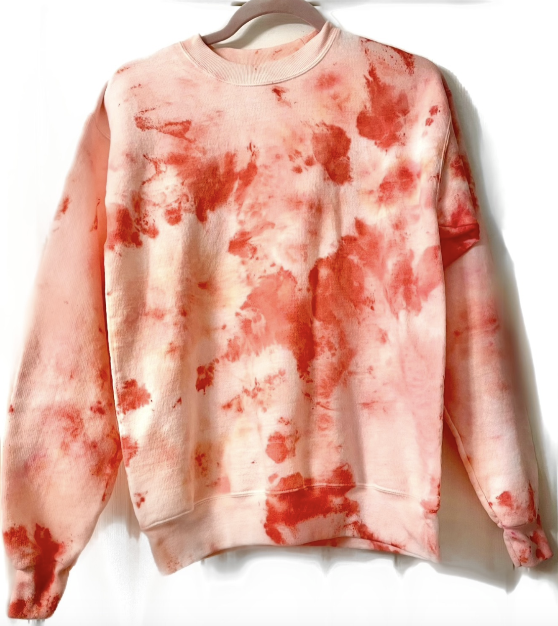 reviewer's tie dyed sweater