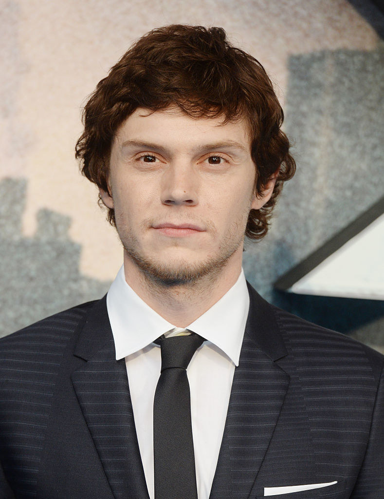 Evan Peters attends the premiere of X- Men Apocalypse at BFI IMAX