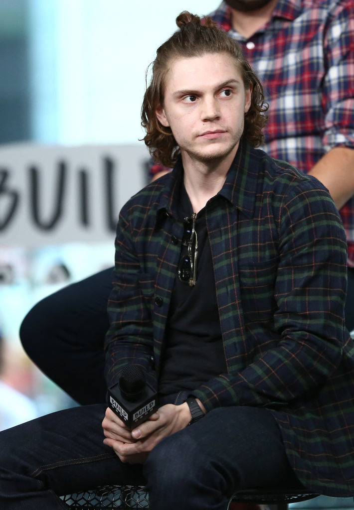 Actor Evan Peters speaks on stage at Build Series Presents.