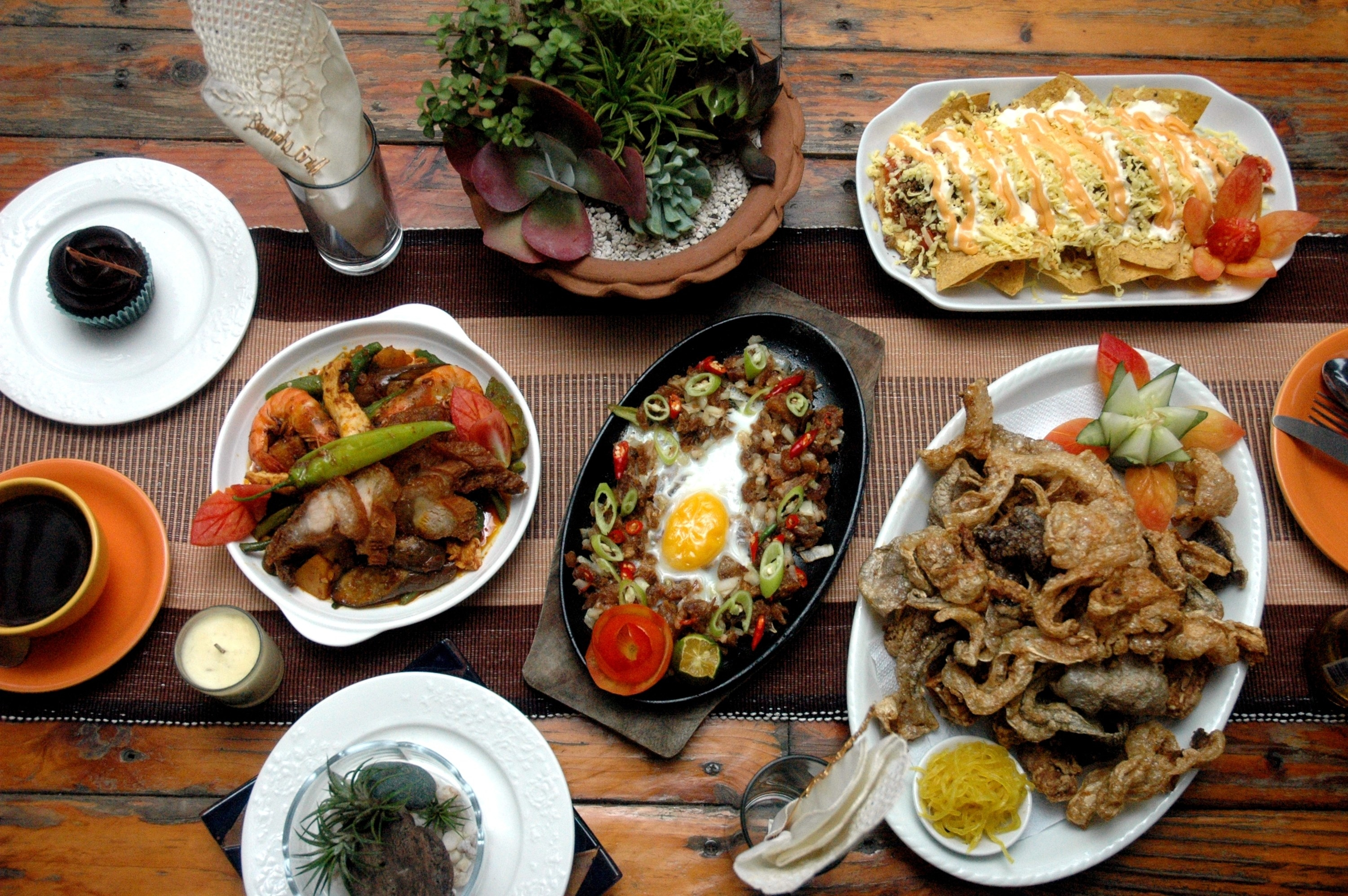 Filipino food spread