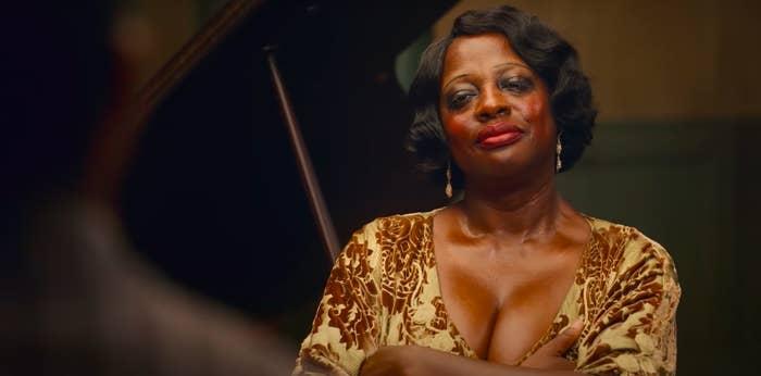 """Viola Davis smiling in """"Ma Rainey's Black Bottom"""""""