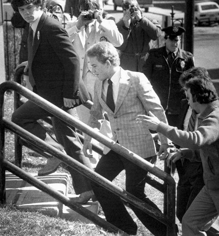 Arne C. Johnson arrives at Danbury Superior Court