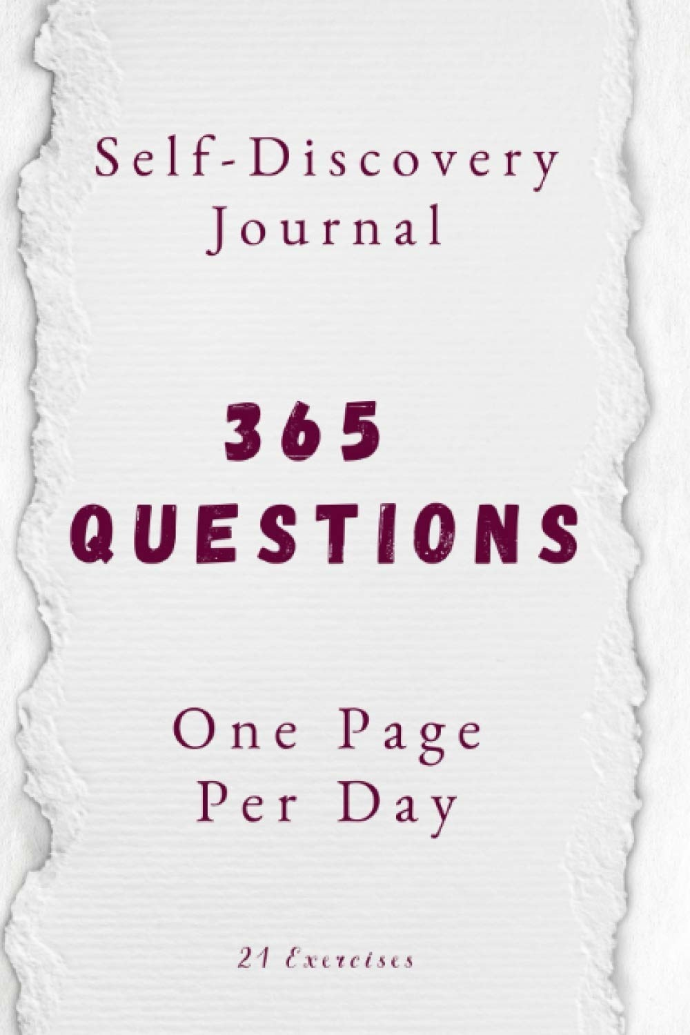 The cover of the self-discovery journal