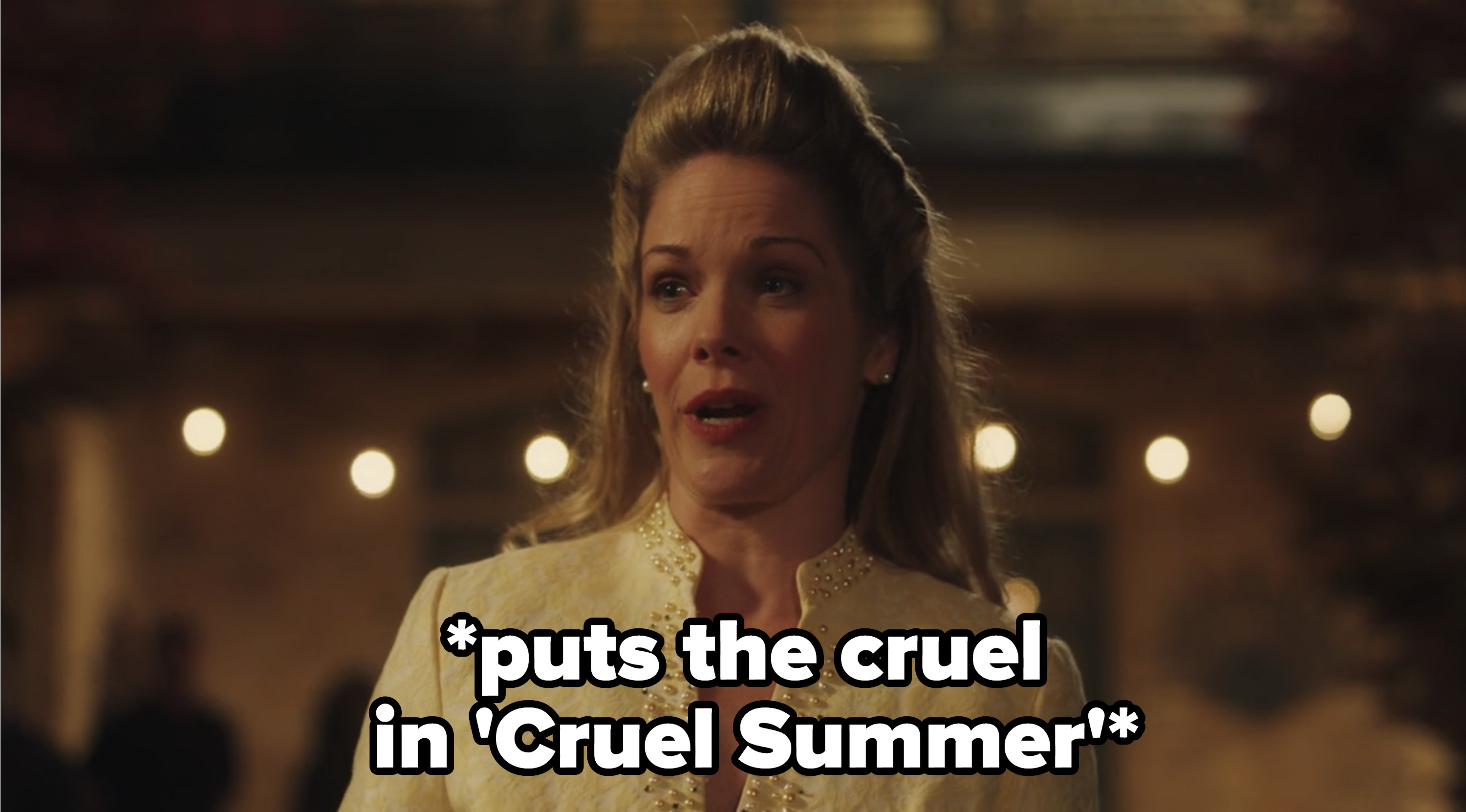 """Kate's mom with the caption """"puts the cruel in cruel summer"""""""