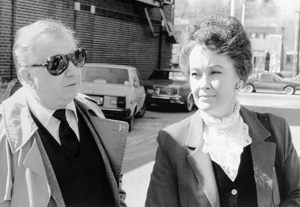 Ed and Lorraine Warren arrive at Danbury Superior Court