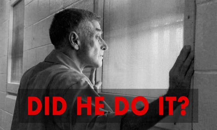 Michael Peterson staring out a prison window