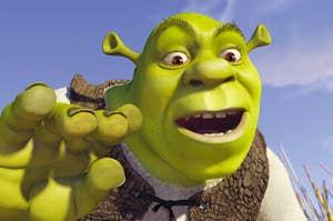 close-up of Shrek