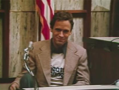 Ted Bundy on trial for multiple murders and yet he's eerily smiling