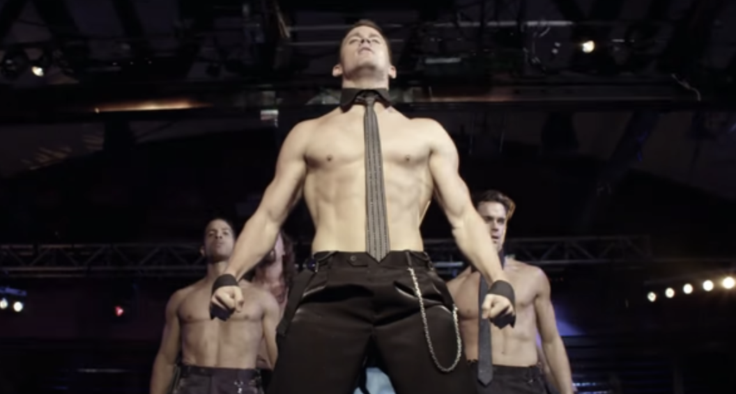 "Channing Tatum as a stripper in ""Magic Mike"""