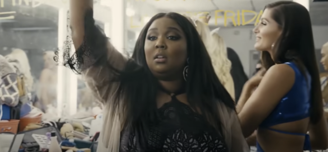 "Lizzo as a stripper in ""Hustlers"""