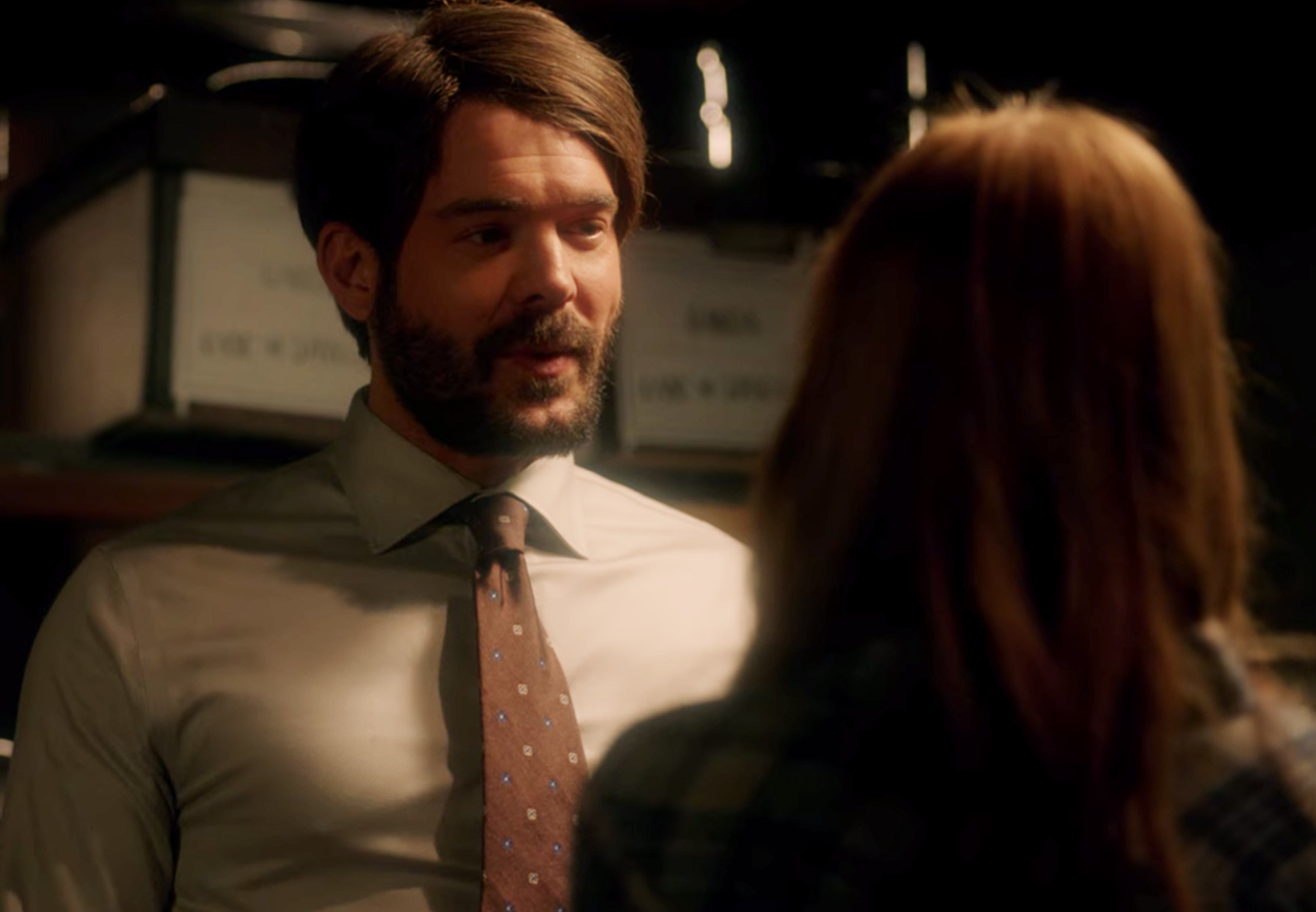 Charlie Weber in an obvious wig