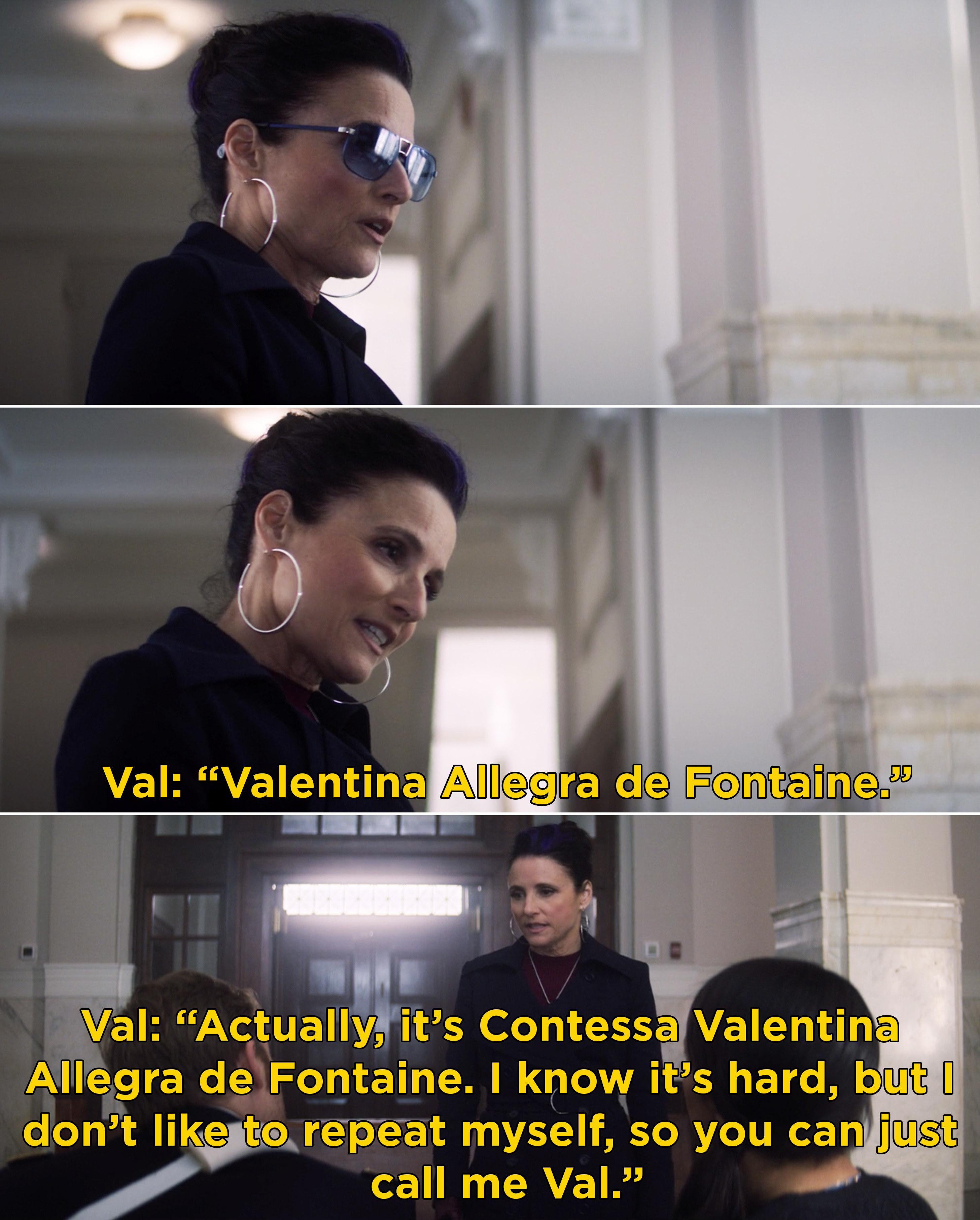 Valentina introducing herself to John Walker