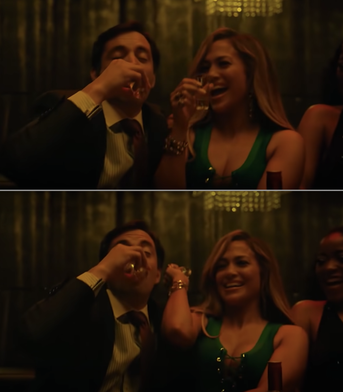 """Jennifer Lopez's """"Hustlers"""" character sneakily throwing away her shot"""