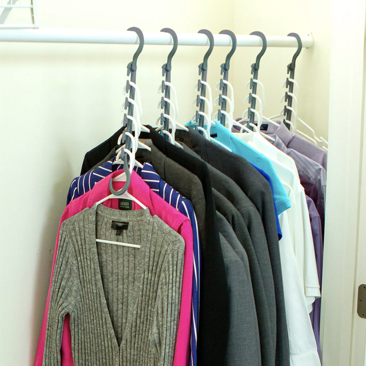 Hangers dropped down to increase space