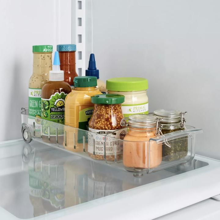 Storage bin placed in fridge