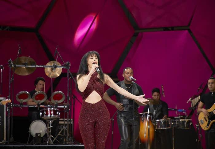 Christian Serratos singing as Selena