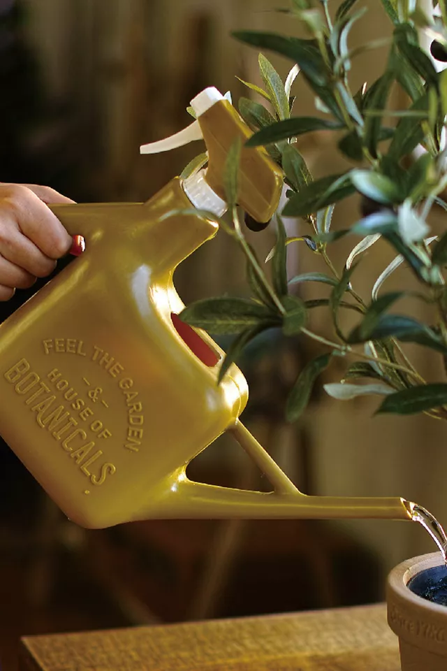 large watering can with spray bottle on the back