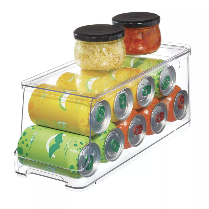 Can organizer with cans inside