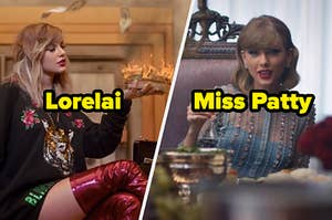 """Taylor Swift music videos labeled """"Lorelai"""" and """"Miss Patty"""""""