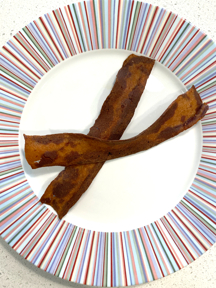 Cooked, crispy bacon