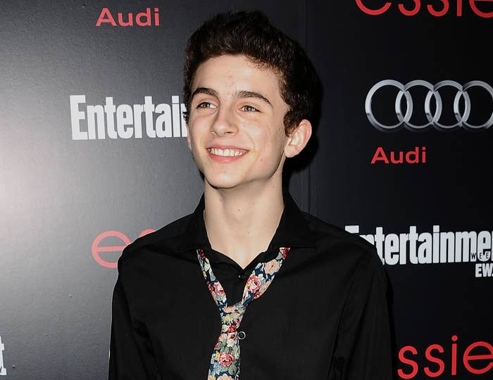 A younger Timothee on a red carpet