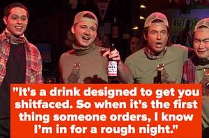 Four men at a bar
