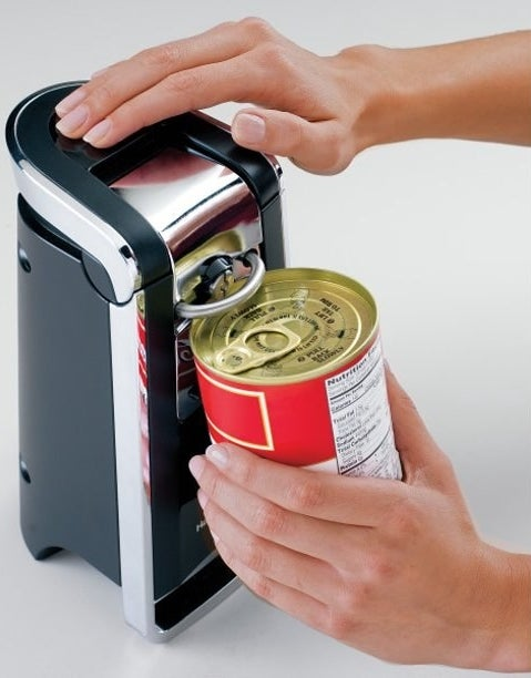 The can opener, which stands on its own on the counterop