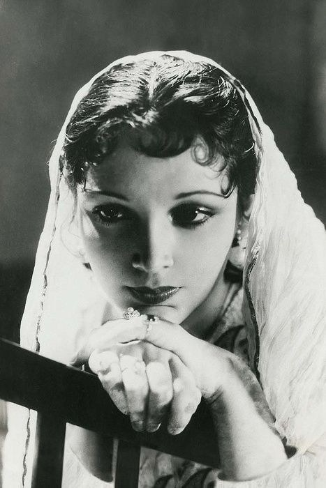 Devika Rani in a movie still when she was young