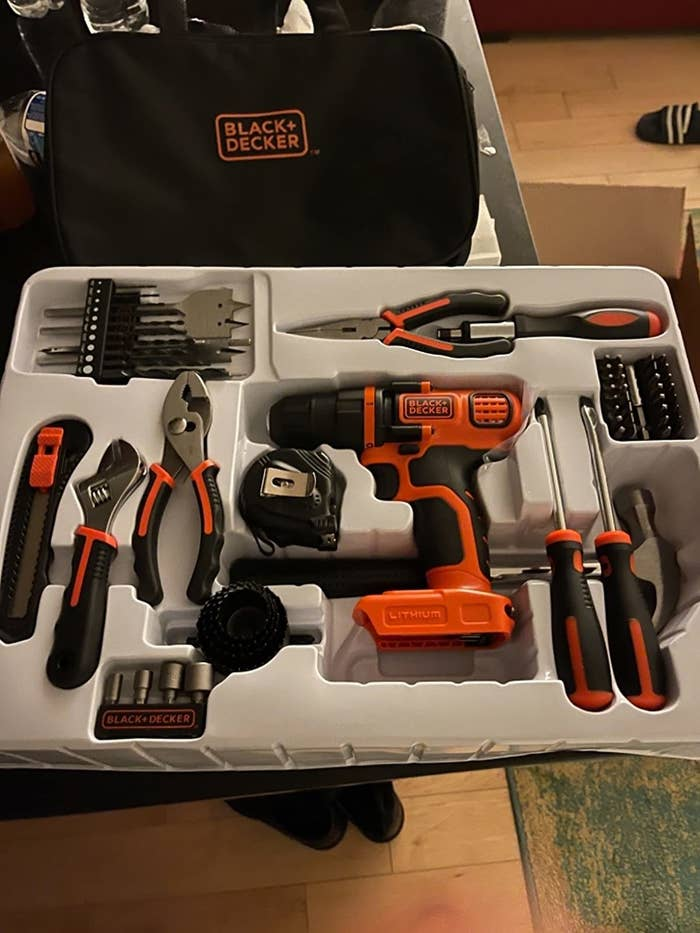 a reviewer photo of the tool kit