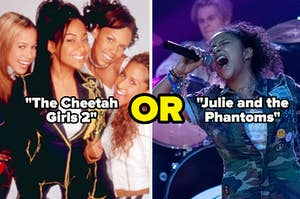 """The cheetah girls and Julie from """"Julie and the Phantoms"""""""
