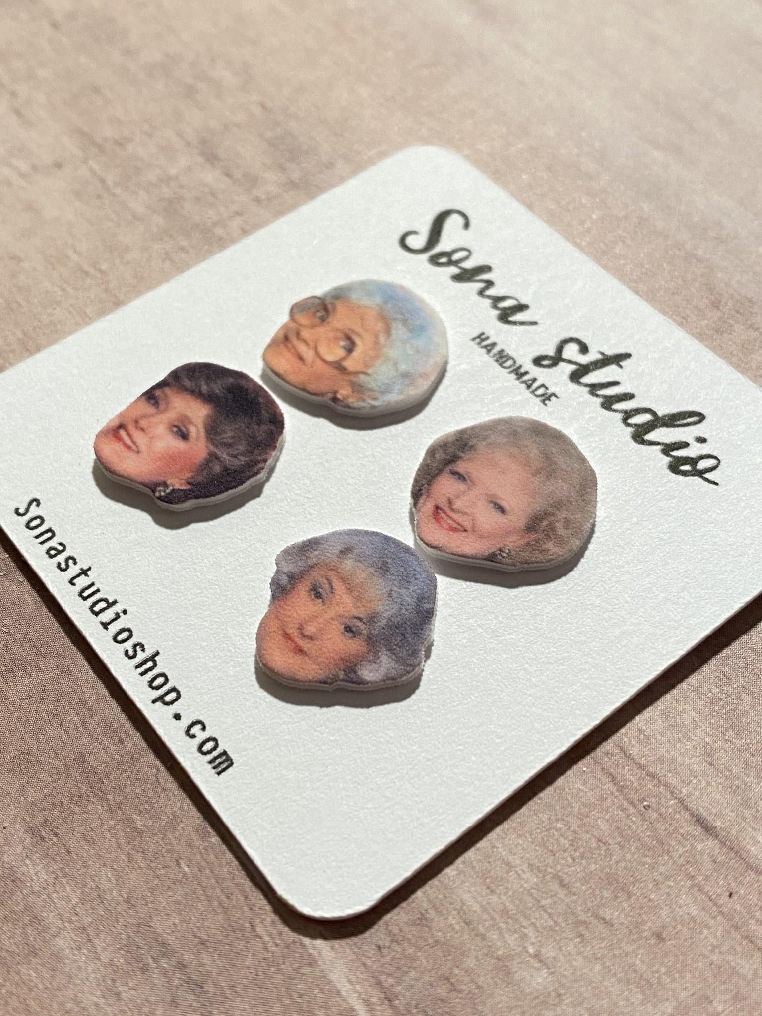 a pack of golden girls earrings