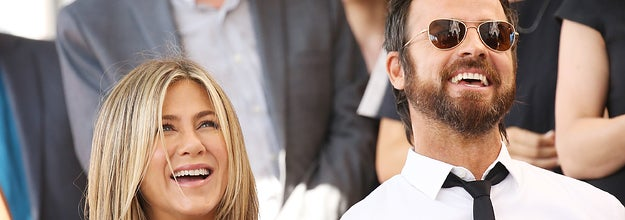 Aniston and Theroux at Jason Bateman's Walk of Fame ceremony in 2017